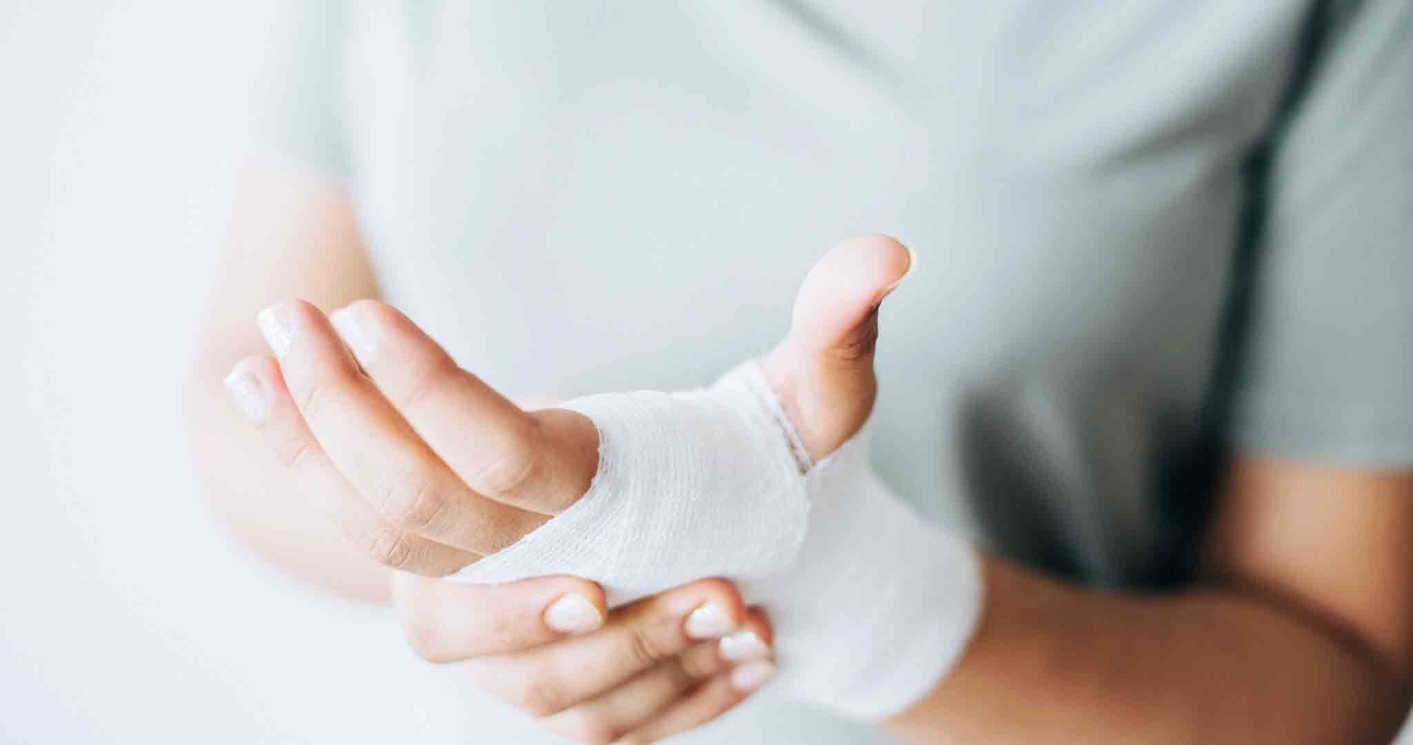 bandage close up hands doctor stock photos
