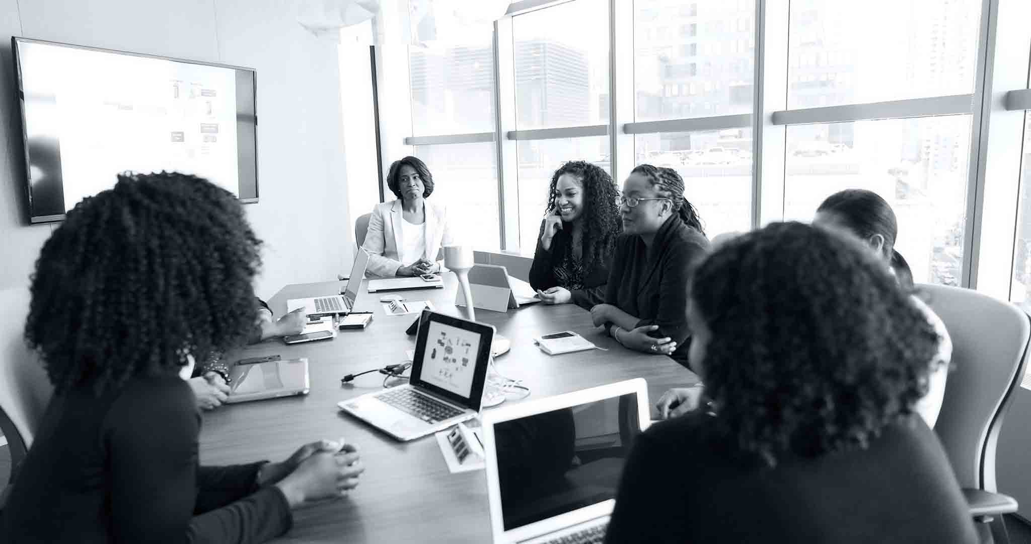 black and white conference room devices meeting stock photos
