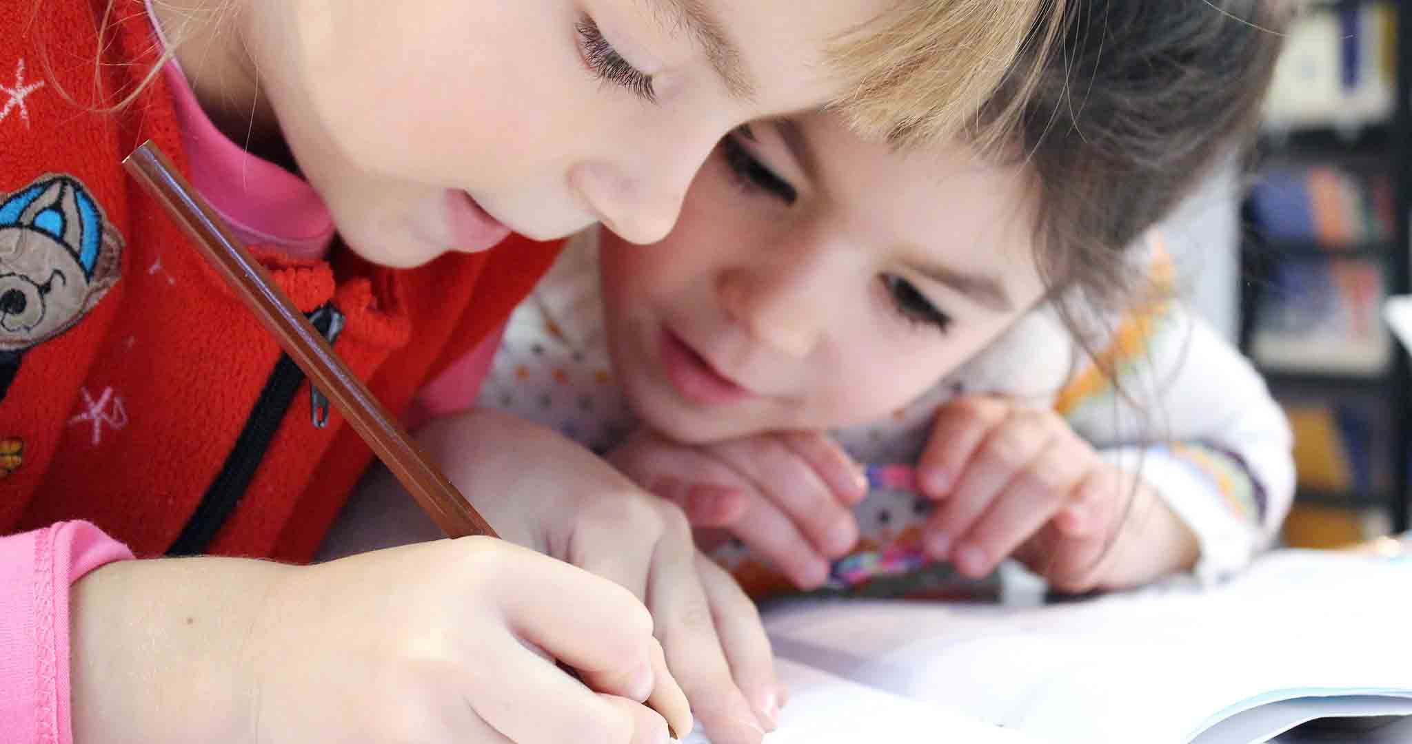 children cute drawing student stock photos