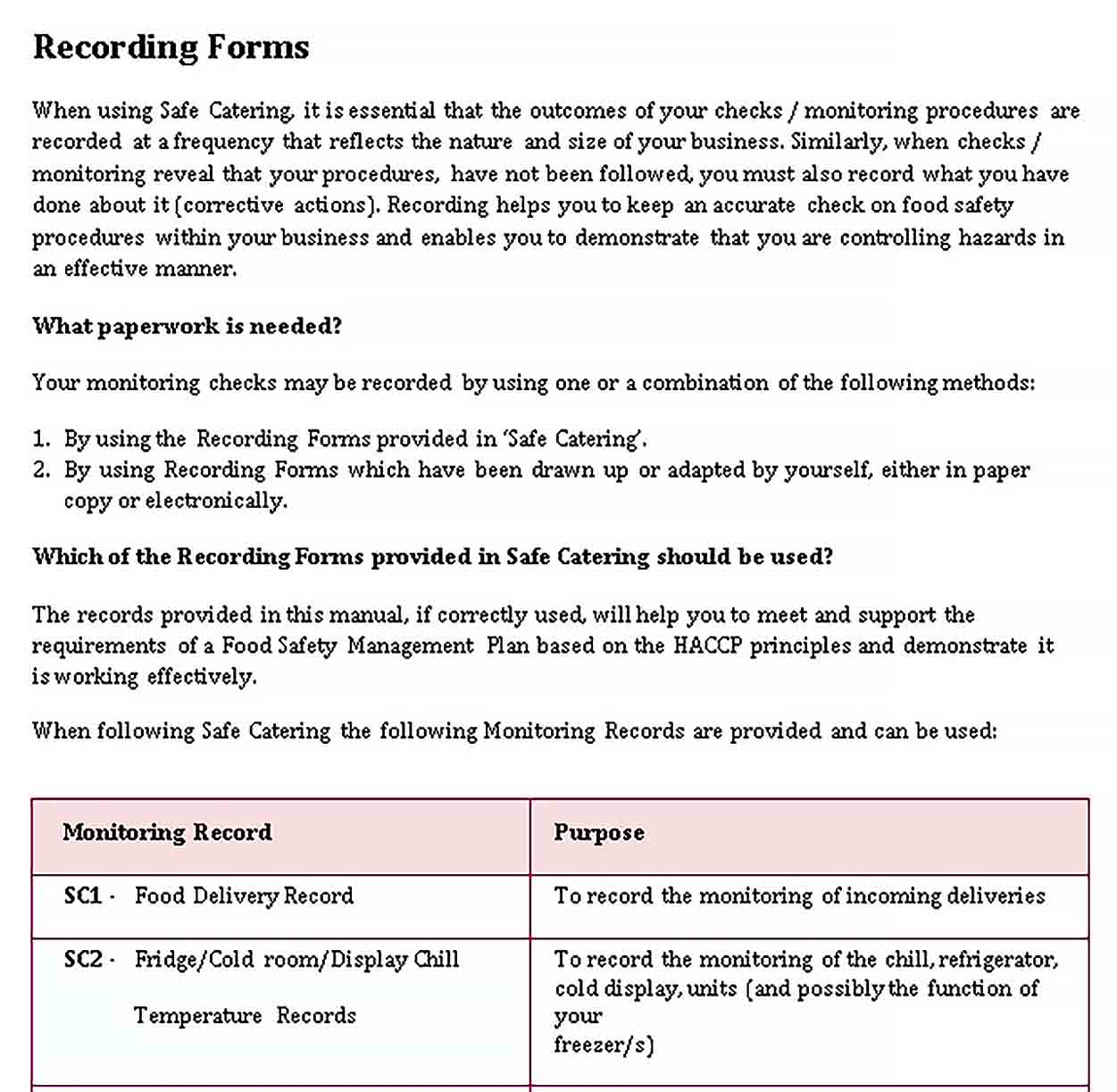 Template Format Delivery Checklist Template