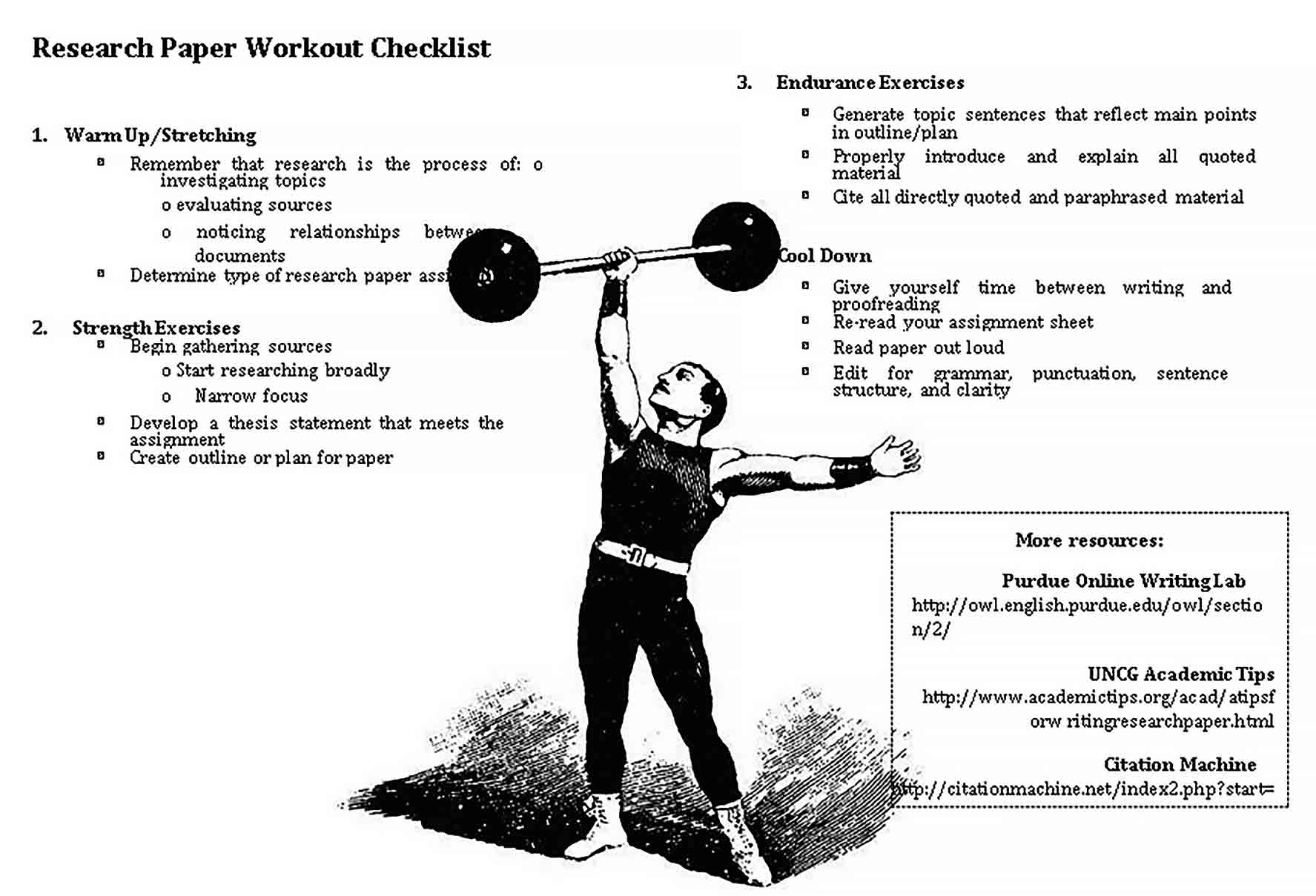 Template Printable Workout Checklist Template