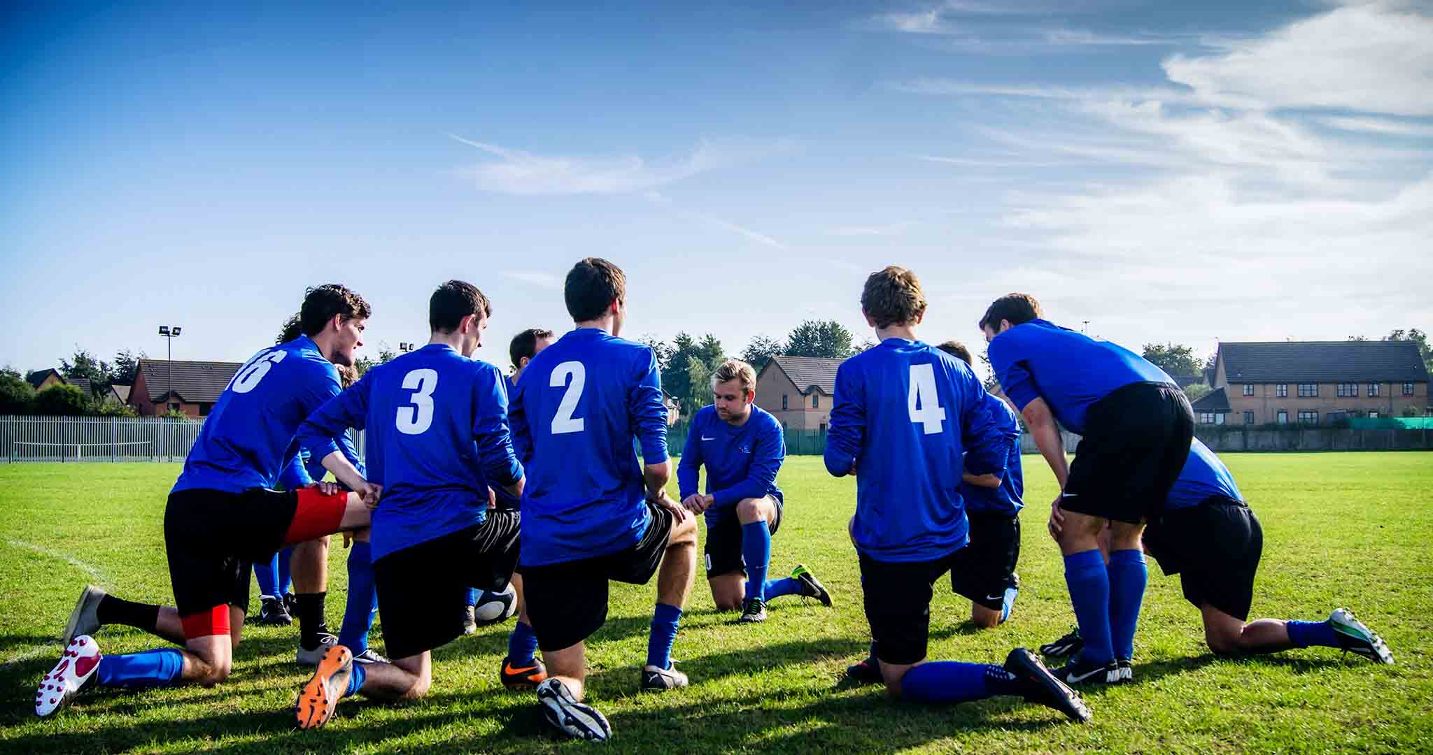 activity athletes blue team stock photography