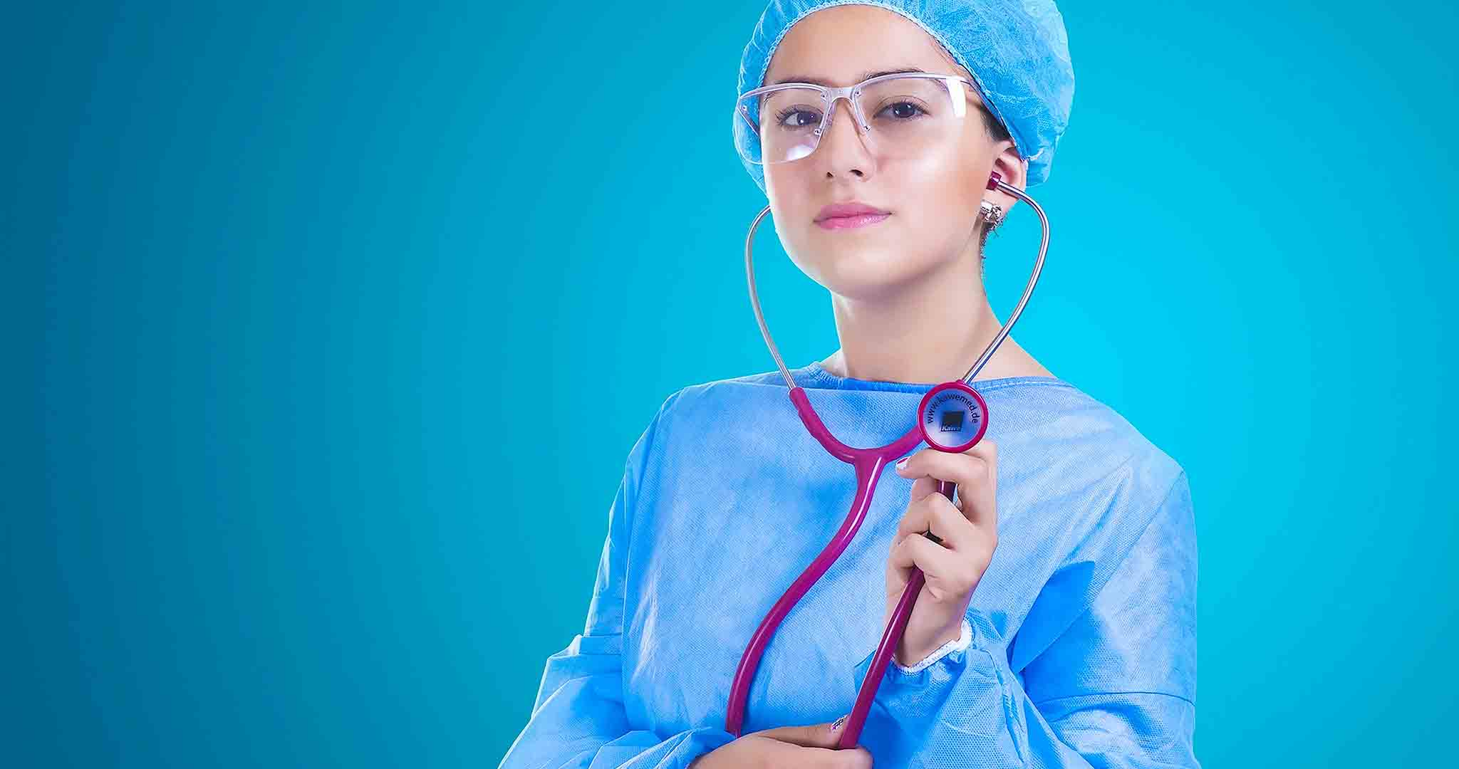 adult doctor girl nurse stock photography