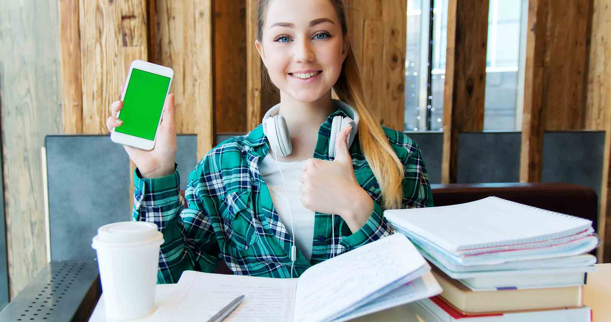 attractive beautiful blue eyes student college stock photography