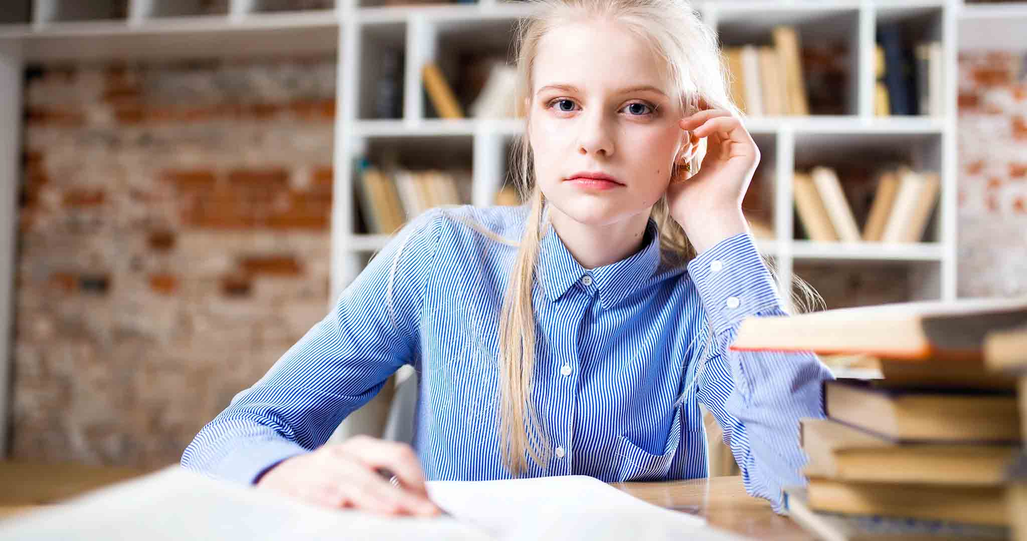 beautiful blond hair blue college students stock photography
