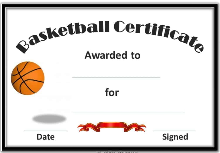 4 Sample Basketball Tournament Certificate Templates