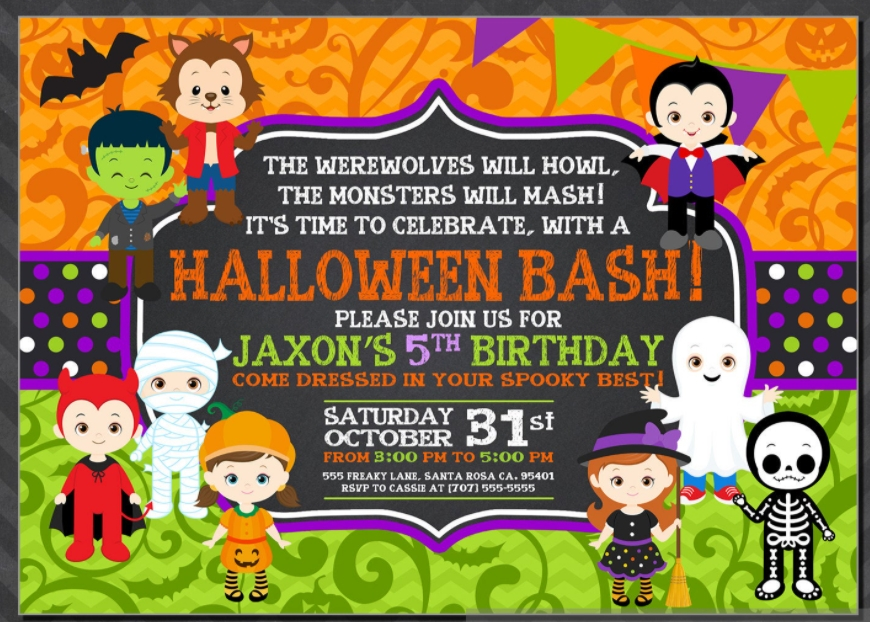 halloween party invitation sample