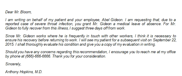 Writing a Professional Medical Leave Letter from Doctor