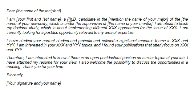 How to Write a Postdoc Application Letter with Sample