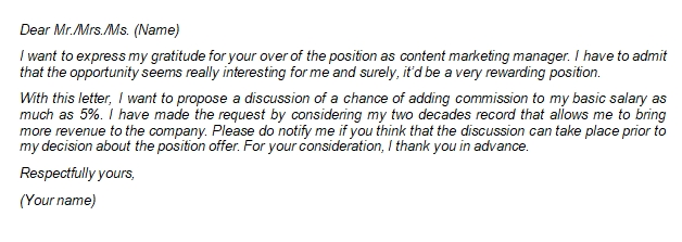 Counter Offer Job Letter Writing Guide and Example