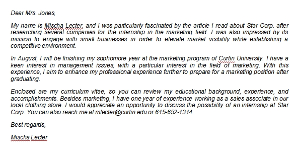 How to Write an Internship Letter of Interest
