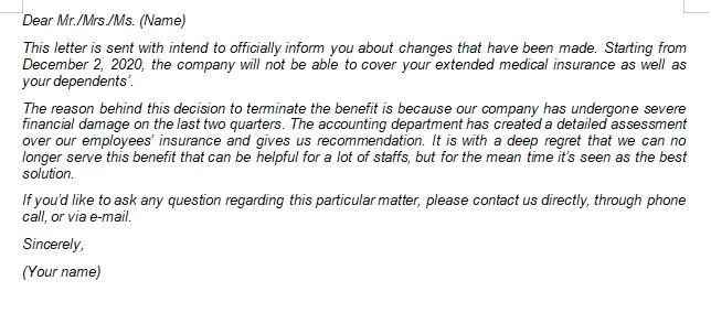 What is Benefit Termination Letter and How to Create One?