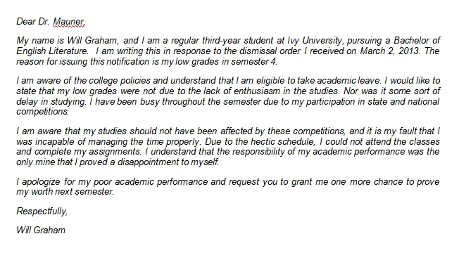 How to Write an Academic Dismissal Appeal Letter for College