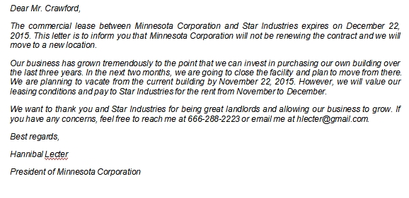How to Write a Commercial Lease Termination Letter to Landlord
