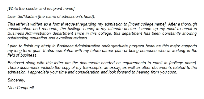 How to Make an Outstanding College Application Letter