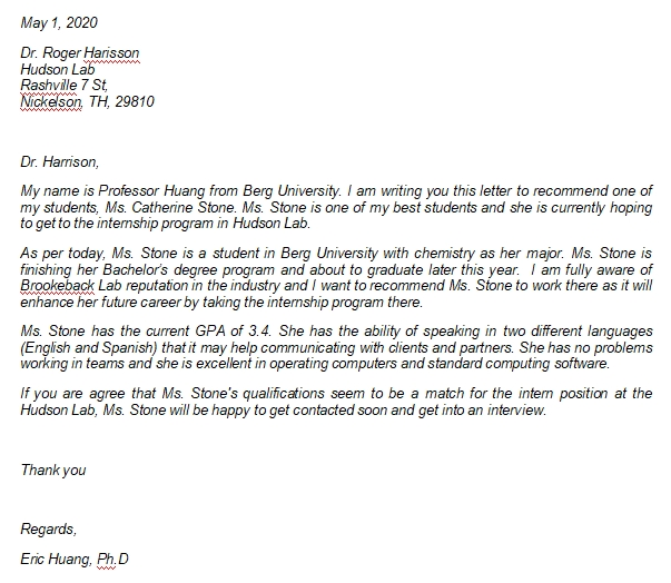 Professor Recommendation Letter and Mandatory Information You Should Know