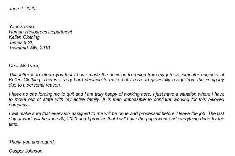 The Samples of Graceful Resignation Letter You Should Have