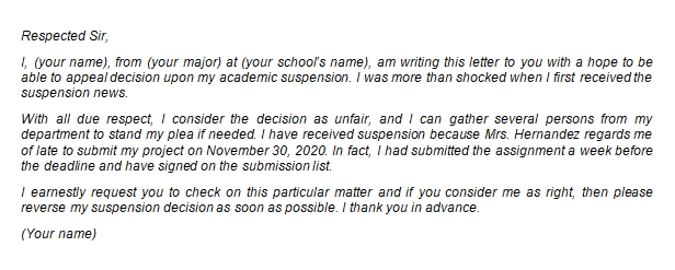 How to Write a Proper Academic Suspension Appeal Letter