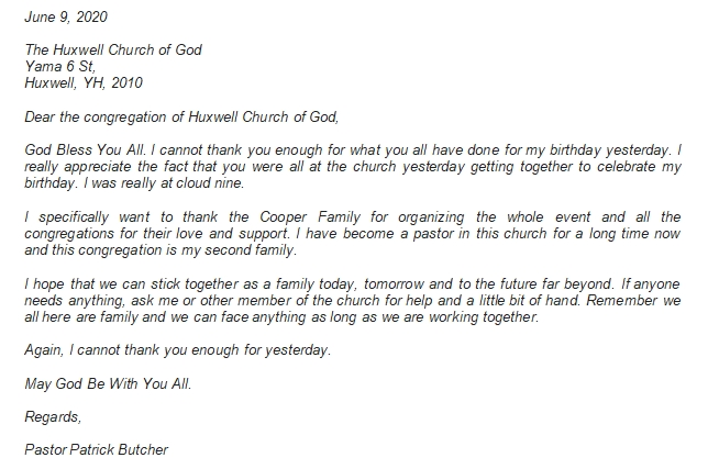 Writing Pastor Appreciation Letter to Congregation with Ease