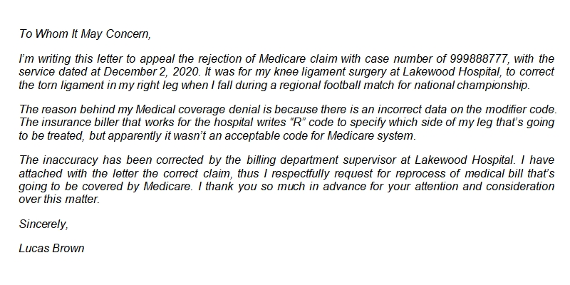 How to Properly Compose Medicare Appeal Letter and Its Sample