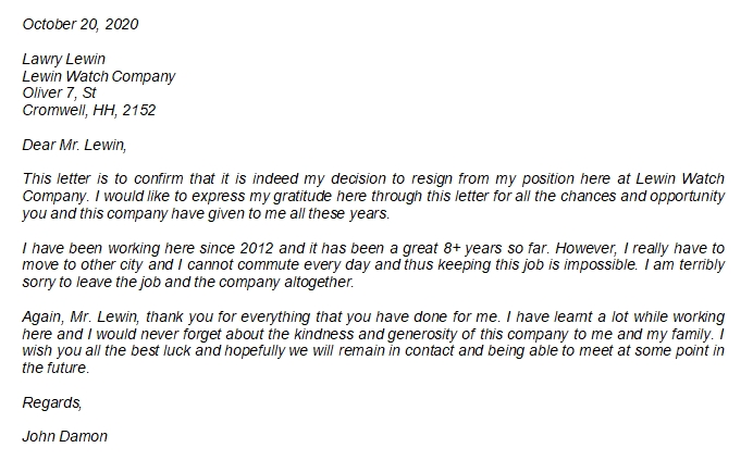 Thank You Resignation Letter to Boss Example and Inspiration
