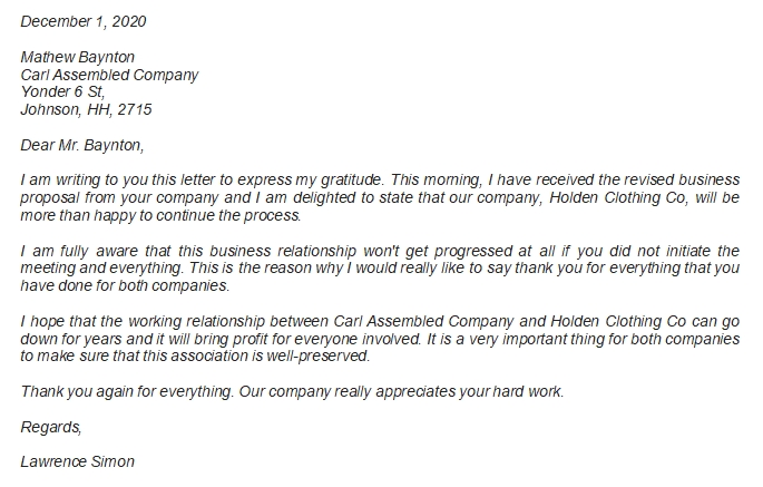 Easy way of Expressing Gratitude through Business Thank You Letter