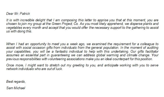 Tips to Write Volunteer Acceptance Letter Effectively