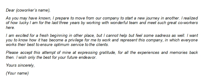Thank You Resignation Letter to Coworkers to Express Appreciation and Gratitude